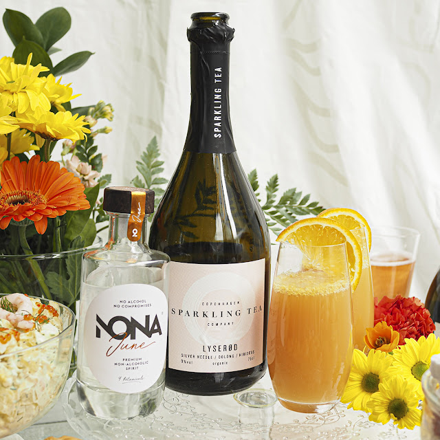 Marmeladi Mimosa drinkki Copenhagen Sparkling Teasta