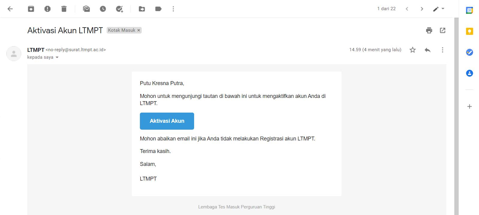 Panduan Register Akun LTMPT Kuliah