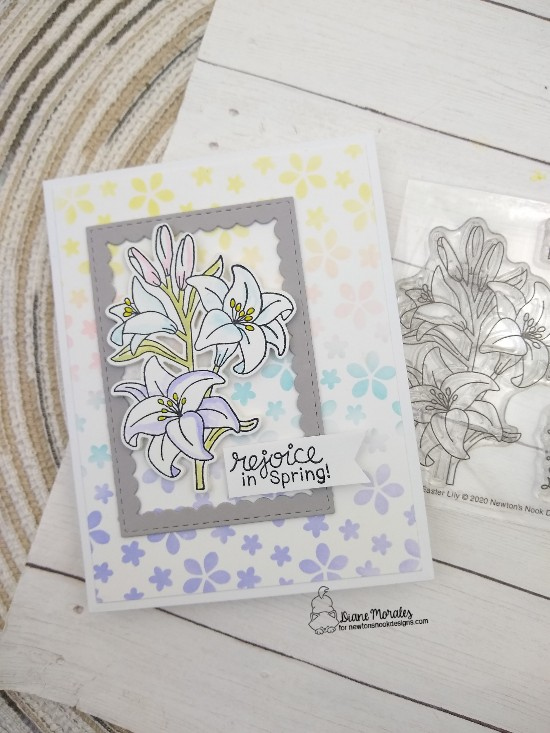 Rejoice in spring by Diane features Easter Lily, Petite Flowers, and Framework by Newton's Nook Designs; #newtonsnook