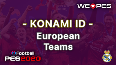 Konami ID | European Teams | PES 2020