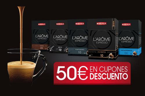 Promoción marzilla, capsulas de café gratis