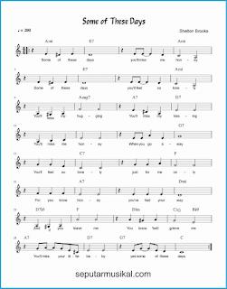 chord some of these days lagu jazz standar