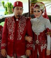 Gaun Pengantin Muslimah Modern Warna Merah