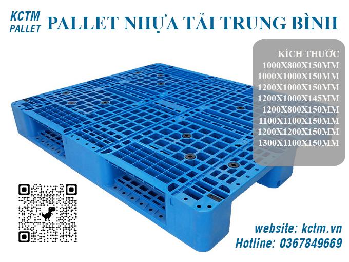 KCTM Pallet báo giá Pallet nhựa tải trung bình