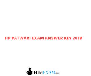 HP Patwari Exam Answer Key 2019