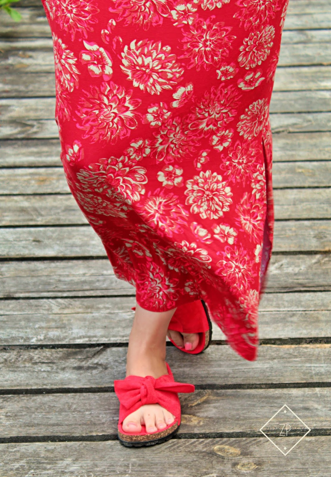 sukienka shirtowa bonprix klapki z kokardą royal fashion