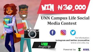UNN Campus Life Social Media Contest 2019 | Win N30,000 Cash