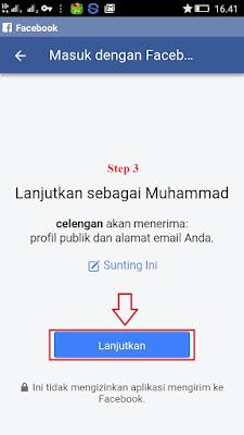 Cara Masuk Dengan Facebook