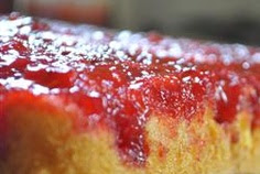 Fresh Strawberry Upside Down Cake II