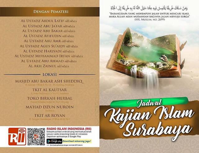 Informasi Jadwal Kajian Sunnah di Surabaya