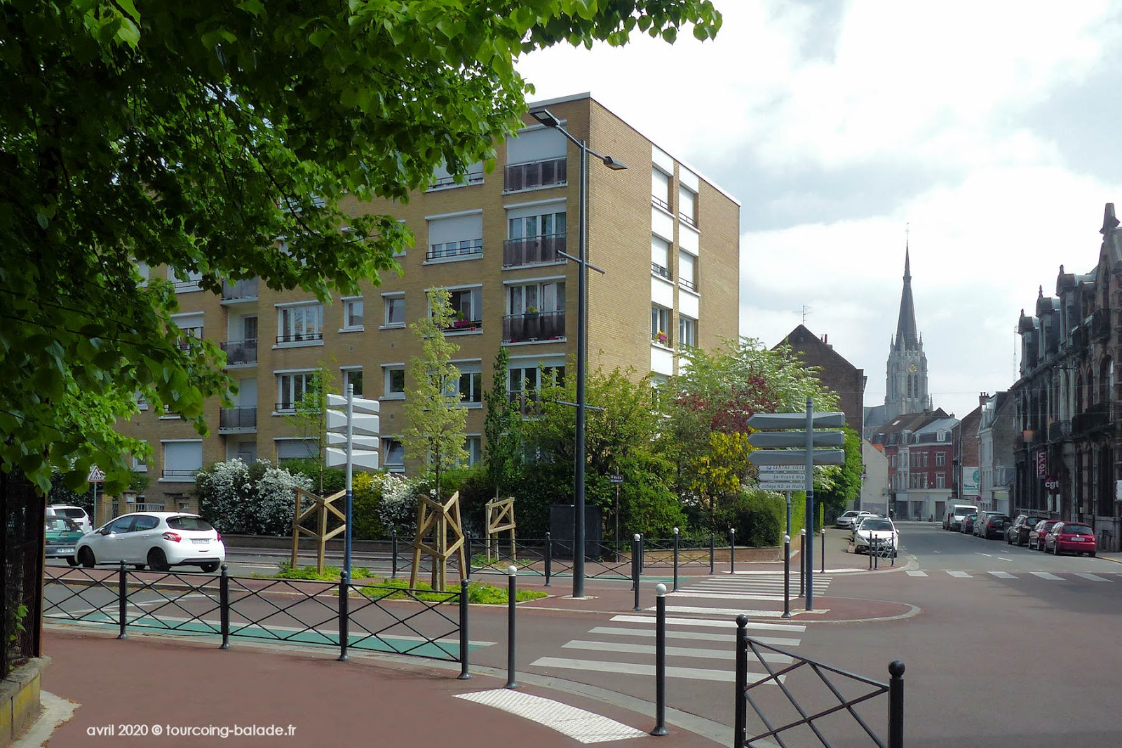 Végétalisation Angle Rues Lille Wailly, Tourcoing 2020