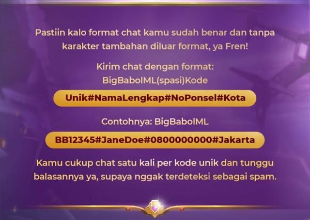 cara Ikut event mobile legend x big babol