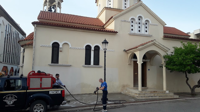 Πρέβεζα: Η Μητρόπολη ευχαριστεί τη ΛΕΚ για την απολύμανση των χώρων των Ι.Ν.