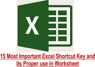 15 Most Important Excel Shortcut Key and its Proper use in Worksheet