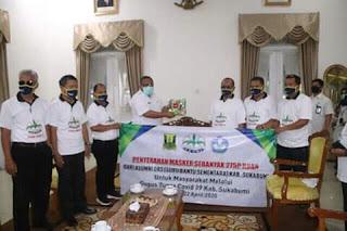 FKGBI Salurkan 2750 Masker, Bupati Sukabumi Sebut Kebersamaan Menjadi Kekuatan Untuk Cegah Covid-19