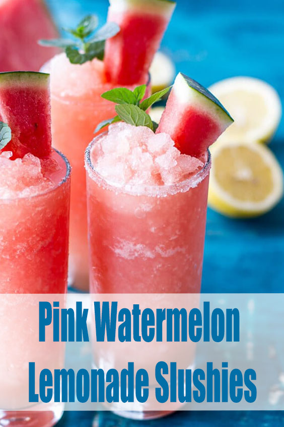 Pink Watermelon Lemonade Slushies