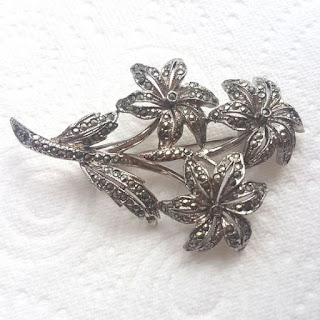 Daisy marcasite brooch by Exquisite