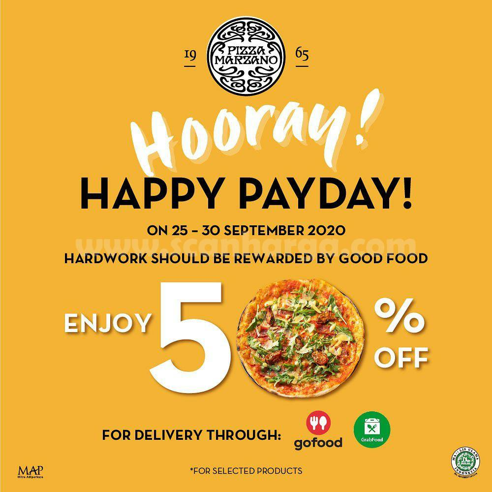 Promo Pizza Marzano Payday Get 50% Off* 25 - 30 September 2020