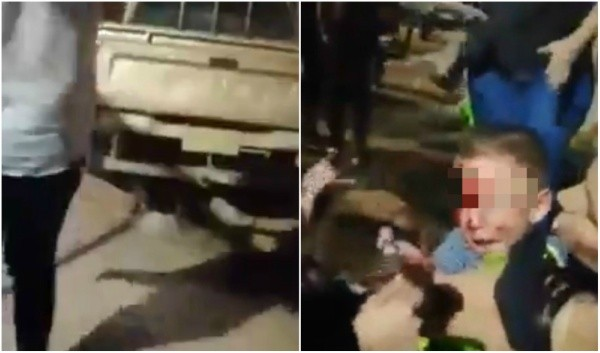 hoyennoticia.com, Camioneta se metió a un parque y arrolló a varias personas en San Alberto -Cesar