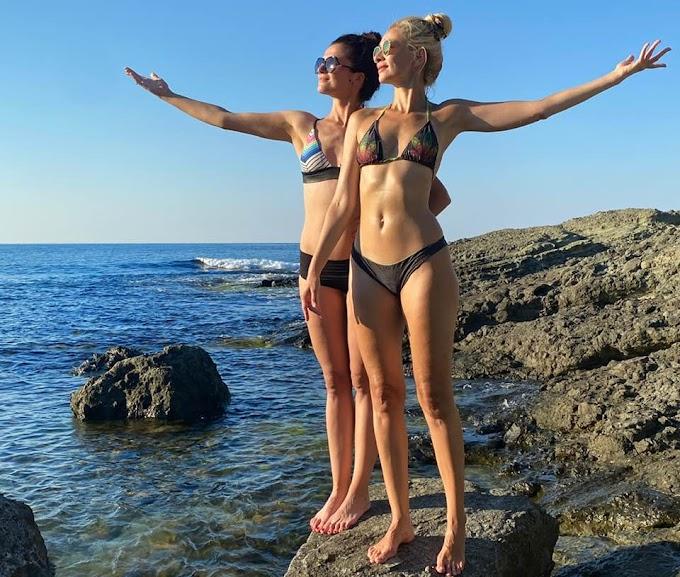 Нети показа красивата си сестра Александра, с която почиват на морето (СНИМКИ)