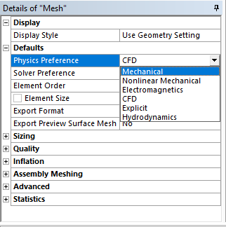 physics preference