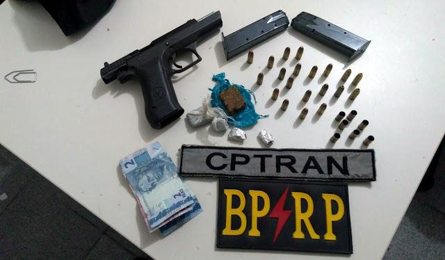 Bandido usando pistola israelense troca tiros com a policia e acaba morto em Aracaju