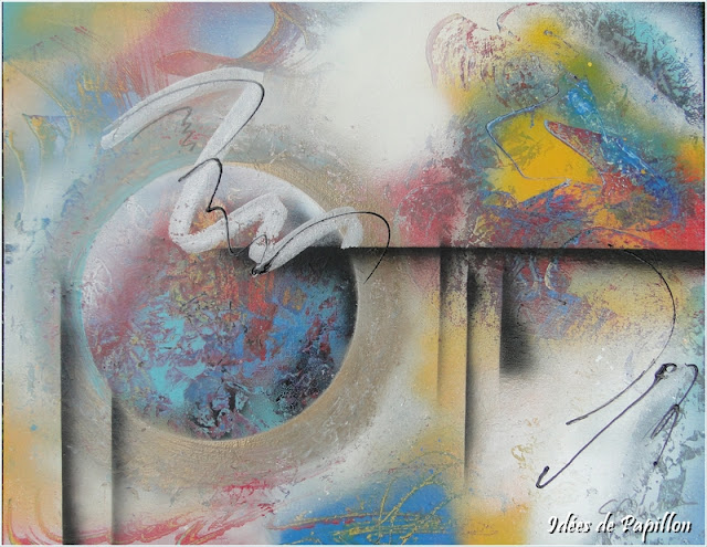 Tableaux spray art abstraits