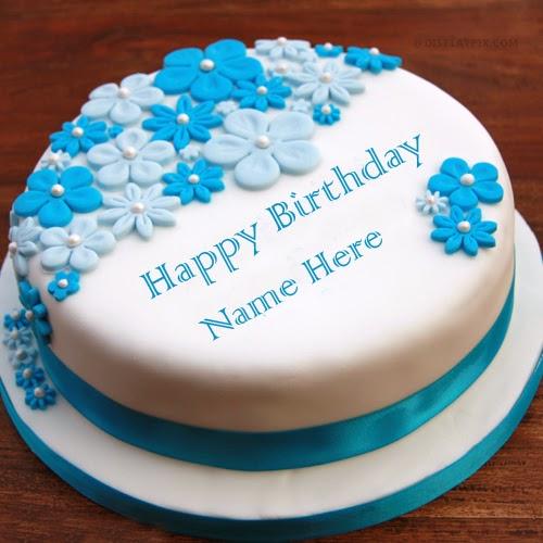 Birthday Cake With Fondant Decoration Image Inspiration of Cake