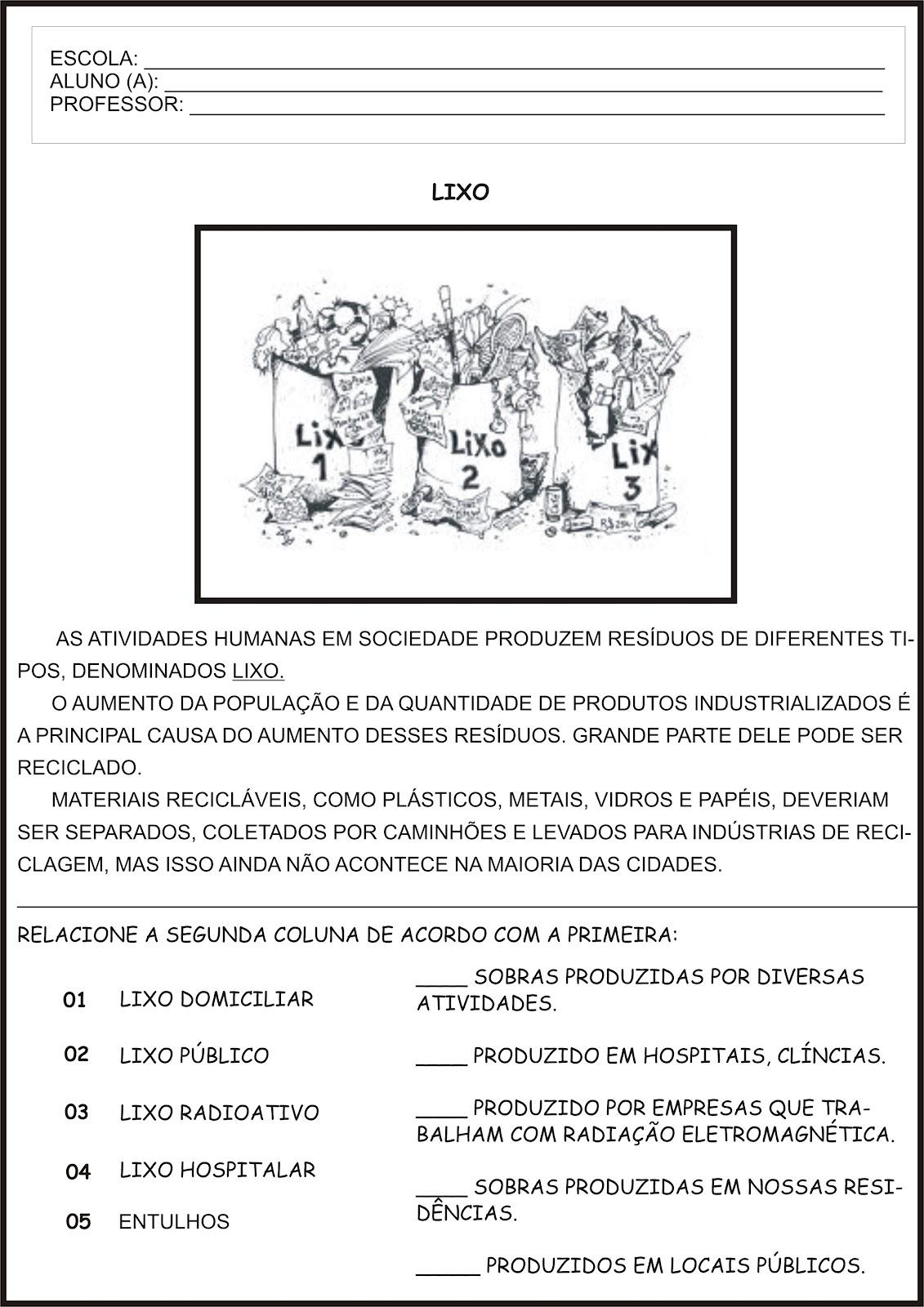 Projeto Meio Ambiente Poluicao 4º Ano Clicks Educativos