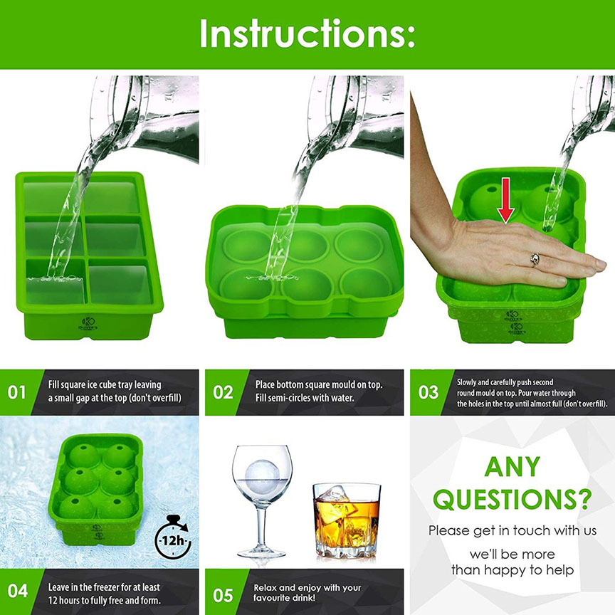 Silicone ice cube tray instructions