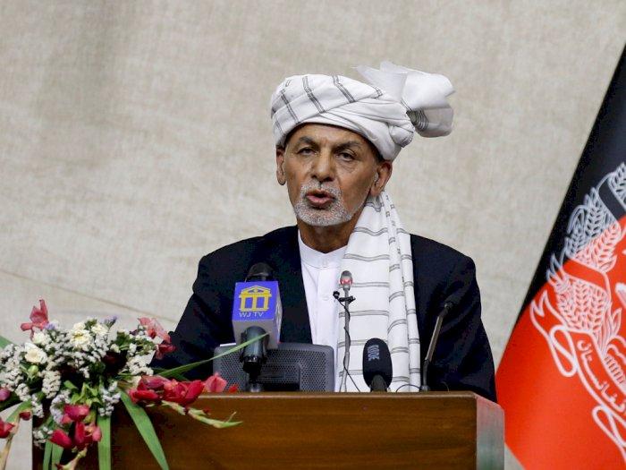 Presiden Afghanistan Ashraf Ghani Bantah Dirinya Melarikan Diri, Lalu?
