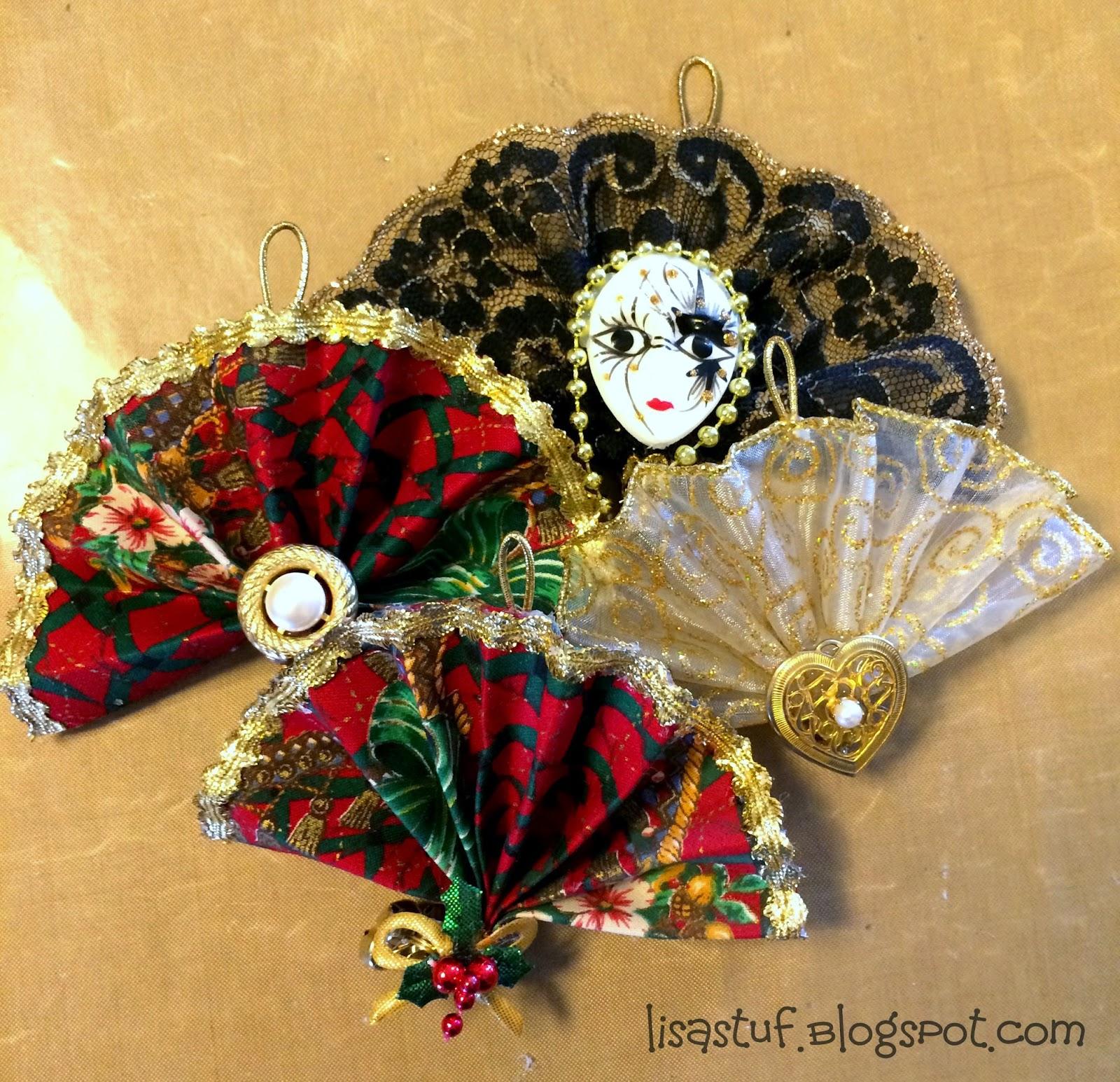 Stuff-n-Such By Lisa: Ribbon Fan Ornament