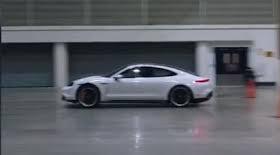 Driver breaks indoor land speed record in electric Porsche