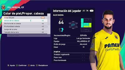PES 2021 Faces Alex Baena by SS 44
