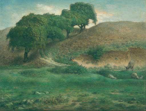Жан Франсуа Милле - Путь через каштановые деревья, Куссета. 1867