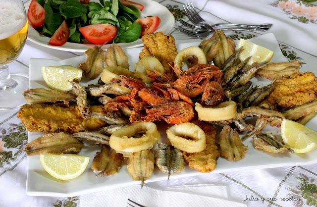 Fritura mixta de pescado. Julia y sus recetas