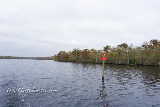 Red river marker, ICW square marker, Pasquotank River