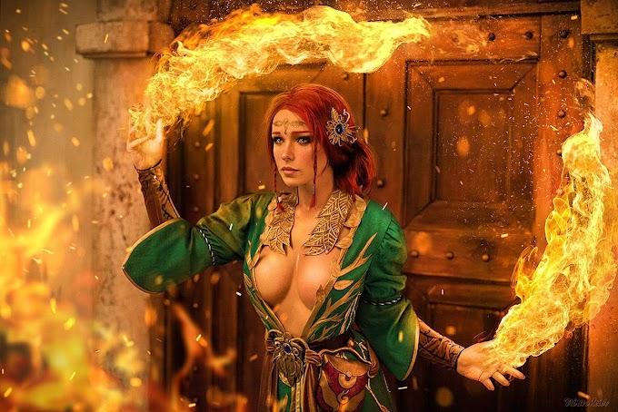 Irina Meier con su cosplay de Triss Merigold