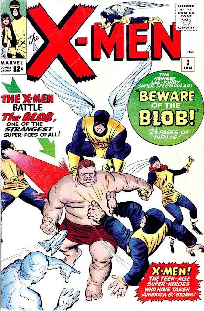 X-Men v1 #3, 1964 Marvel silver age comic book cover by Jack Kirby - 1st Blob