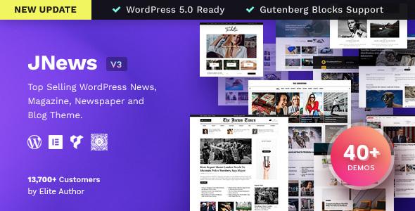 jnews Rekomendasi Theme Wordpress Premium untuk Website Berita