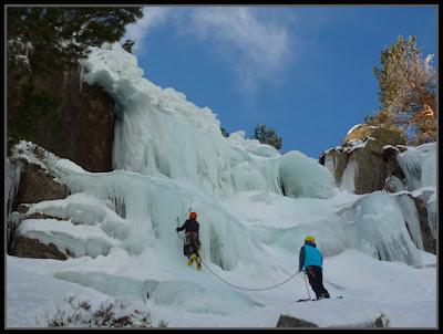 Sierra de Neila, cascadas de hielo en Neila