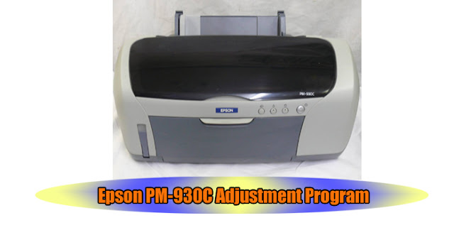 Epson PM-930C Printer Adjustment Program