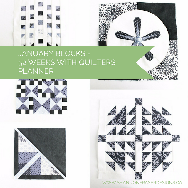 January Quilter's Planner Blocks | Shannon Fraser Designs | Modern Quilting | Free Quilting Block Patterns
