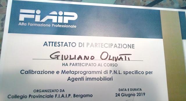 Giuliano Olivati PNL per agenti immobiliari Bergamo