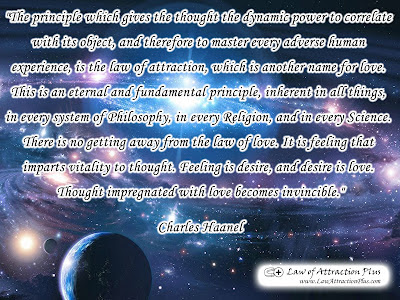 Free Law of Attraction Wallpaper with Quote by Charles Haanel