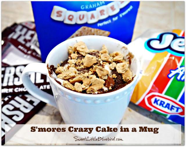 Cake In A Mug Recipes No Egg: Sweet Little Bluebird: S'mores Crazy Cake In A Mug