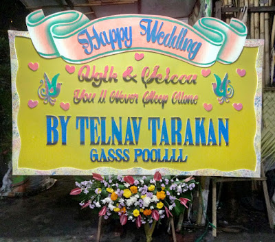 bunga papan pernikahan surabaya 1