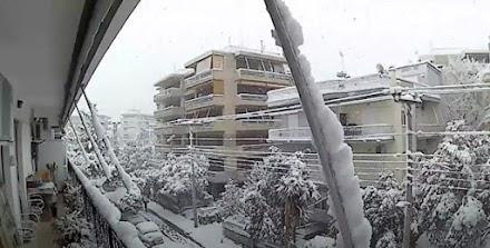 Μήδεια : Χιονιάς 16/2/2021 -Δήμος Παπάγου -Χολαργου
