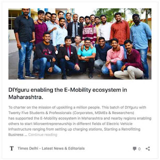DIYguru enabling the E-Mobility ecosystem in Maharashtra