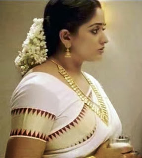 Kavya Madhavan hot in saree blouse